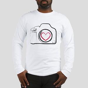 DSLR Camera Heart Long Sleeve T-Shirt