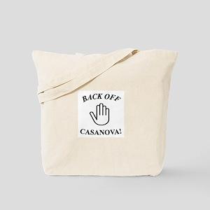 Back Off Casanova Tote Bag