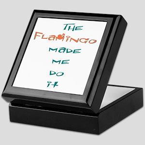 Blame the flamingo Keepsake Box