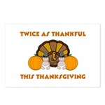 Twice Thankful Thanksgiving Postcards (Package of