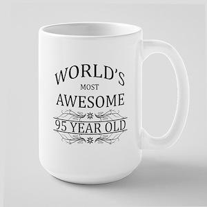 World's Most Awesome 95 Year Old Large Mug