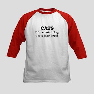 Saying: Love Cats 3 Kids Baseball Jersey