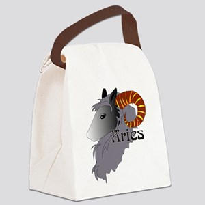 Whimsical Aries Canvas Lunch Bag
