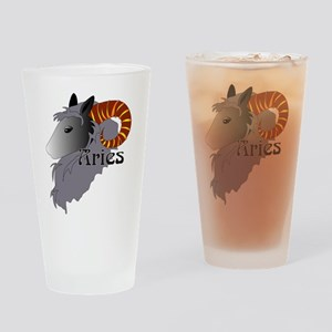 Whimsical Aries Drinking Glass