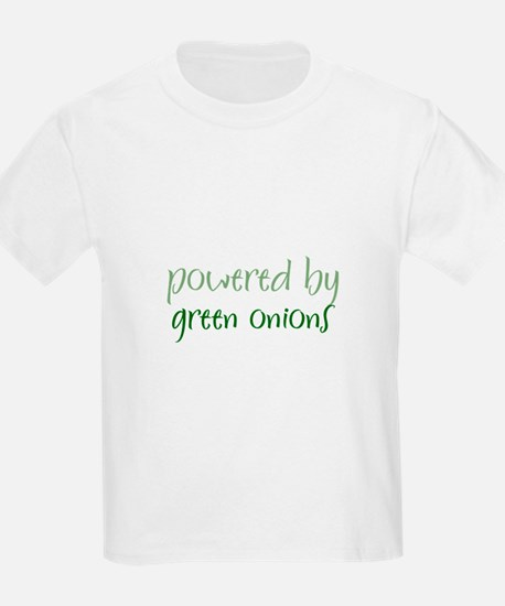 Powered By green onions Kids T-Shirt