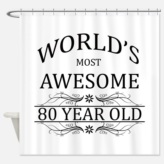 World's Most Awesome 80 Year Old Shower Curtain