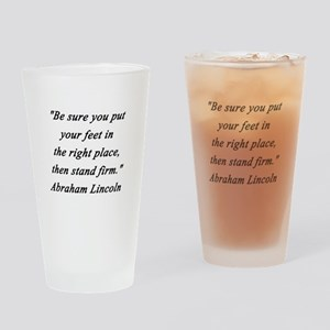 Lincoln - Stand Firm Drinking Glass