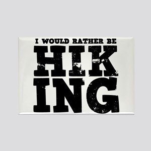'Rather Be Hiking' Rectangle Magnet
