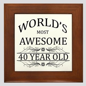 World's Most Awesome 40 Year Old Framed Tile