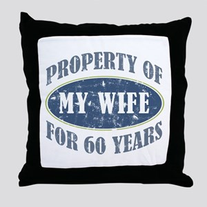Funny 60th Anniversary Throw Pillow