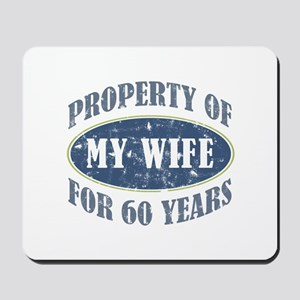 Funny 60th Anniversary Mousepad