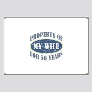 Funny 50th Anniversary Banner
