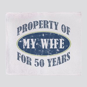Funny 50th Anniversary Throw Blanket
