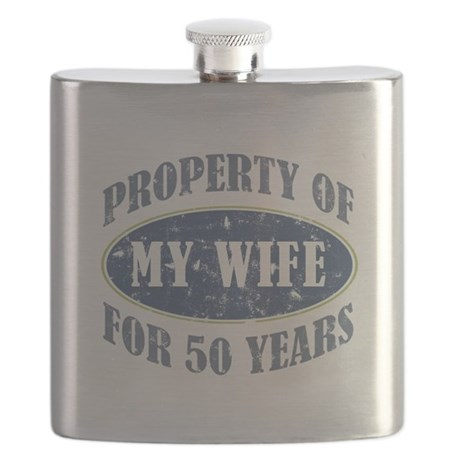 Funny 50th Anniversary Flask