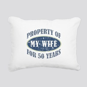 Funny 50th Anniversary Rectangular Canvas Pillow