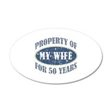 Funny 50th Anniversary Wall Decal