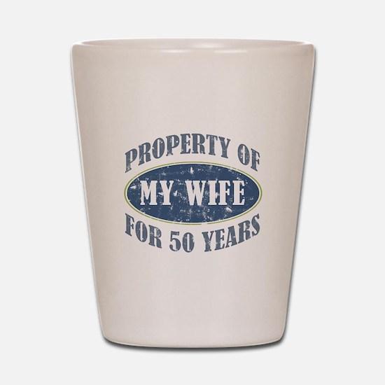 Funny 50th Anniversary Shot Glass