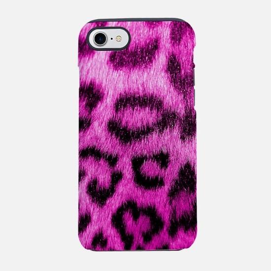 Pink Leopard Print iPhone 7 Tough Case