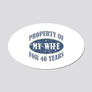 Funny 40th Anniversary 20x12 Oval Wall Decal