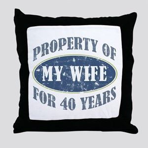 Funny 40th Anniversary Throw Pillow