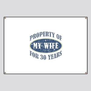 Funny 30th Anniversary Banner