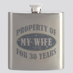 Funny 30th Anniversary Flask