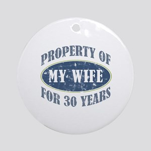Funny 30th Anniversary Ornament (Round)