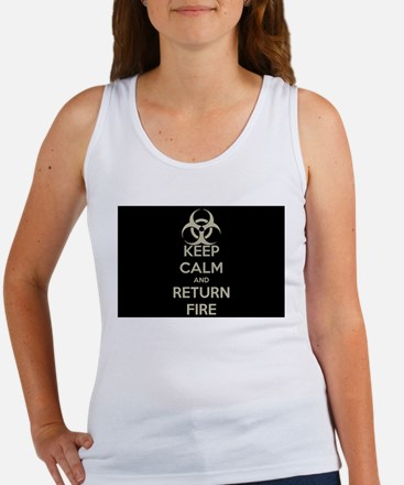 Keep Calm and Return Fire Tank Top