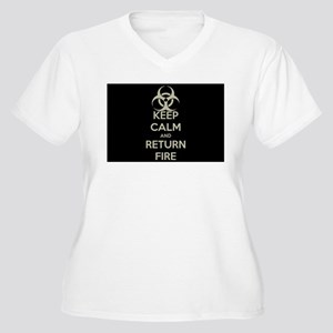 Keep Calm and Return Fire Plus Size T-Shirt
