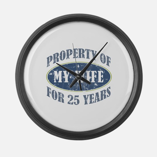 Funny 25th Anniversary Large Wall Clock