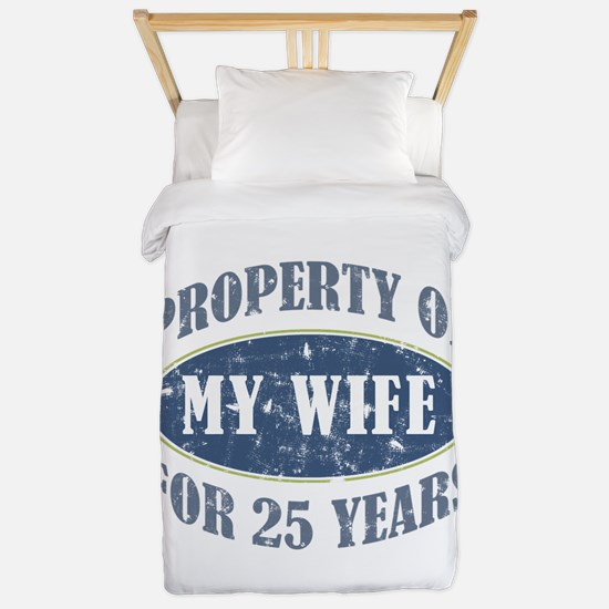 Funny 25th Anniversary Twin Duvet