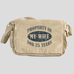 Funny 25th Anniversary Messenger Bag
