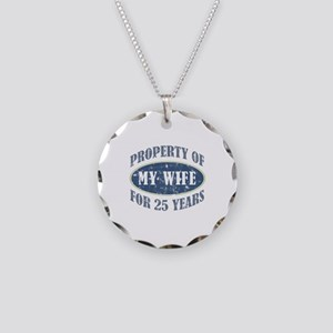 Funny 25th Anniversary Necklace Circle Charm