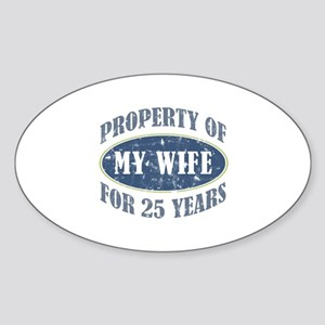 Funny 25th Anniversary Sticker (Oval)