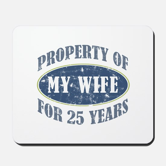 Funny 25th Anniversary Mousepad