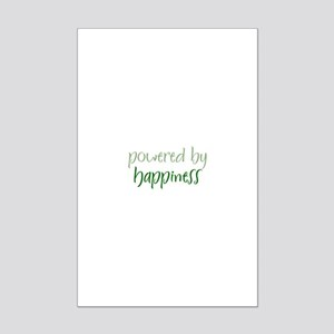 Powered By happiness Mini Poster Print