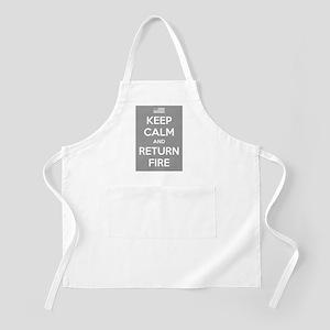 Keep Calm and Return Fire Apron