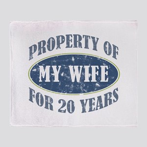 Funny 20th Anniversary Throw Blanket