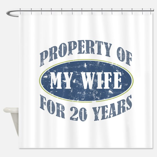 Funny 20th Anniversary Shower Curtain