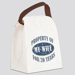 Funny 20th Anniversary Canvas Lunch Bag