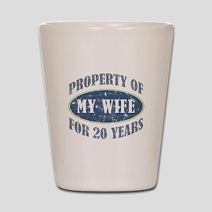 Funny 20th Anniversary Shot Glass