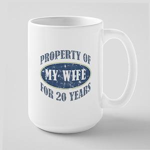 Funny 20th Anniversary Large Mug