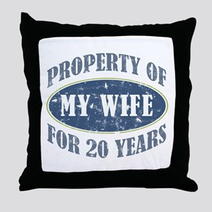 Funny 20th Anniversary Throw Pillow