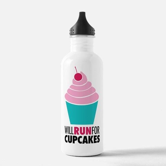 Cupcake RUnner Water Bottle