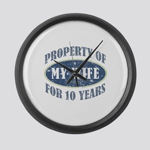 Funny 10th Anniversary Large Wall Clock