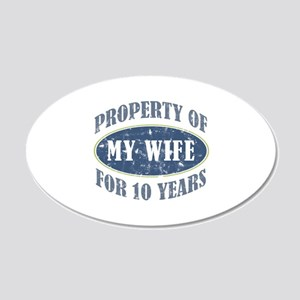 Funny 10th Anniversary 20x12 Oval Wall Decal