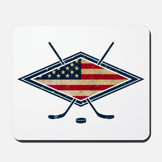 USA Hockey Flag Logo Mousepad