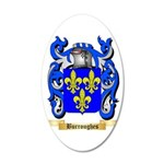 Burroughes 35x21 Oval Wall Decal