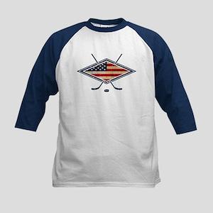 USA Hockey Flag Logo Baseball Jersey