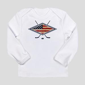USA Hockey Flag Logo Long Sleeve T-Shirt